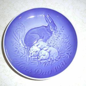 BING & GRONDAHL 1981 Mors Dag MOTHER'S DAY Plate